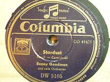 78 trs-rpm-BENNY GOODMAN - Stardust - King porter stomp COLUMBIA DW 5105