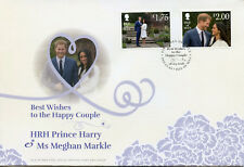 Isle of Man IOM 2018 FDC Prince Harry & Meghan 2v Set Cover Royalty Stamps
