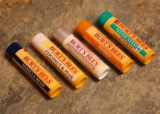 5 Pack Burts Bees Beeswax Coconut, Vanilla, Honey, Medicated, & More Lip Balm