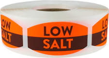 Low Salt Grocery Market Stickers, 0.75 x 1.375 Inches, 500 Labels on a Roll