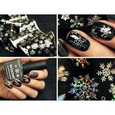 Weihnachten Schneeflocken Glitzer Nagel Folie Sticker Holographic Nail Foils