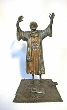 Probably Bergman Orientalist Vienna Bronze cold painted arab man praying (#924)