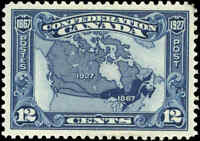 1927 Mint Canada VF Scott #145 12c Confederation Anniversary Issue Stamp NH