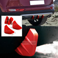 Bumper Diffuser Molding Aero Parts Lip Fin Body Spoiler Chin Red 4P for JEEP Car