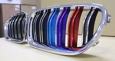 Front Grille Chrome with  ///M Color For BMW F10,F11, 2010-2014