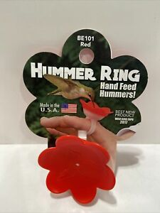 2 in X 2 in x 2 in Red HUMMER RING Hand Feeder  Backyard Essentials New