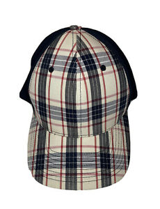 Kangol Plaid Hat Stretch Flex Fit L XL Baseball Cap Kangaroo Golf Blue