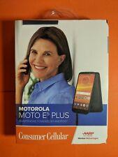 Motorola Moto E5 Plus Consumer Cellular 32GB Black Brand New Sealed
