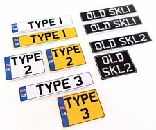 1:14 Scale UK British RC Plastic Number / License Plates Pair Tamiya Truck etc