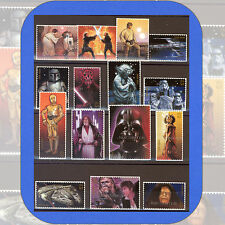 2007  STAR WARS  Genuine USPS Complete Set of 15  Stamps w/Bonus Scott cat #4143
