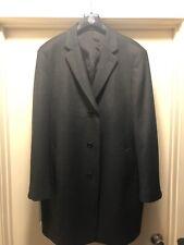 $400 Nordstrom's Men's Wool Blend Top Coat Overcoat Charcoal Grey, Size 44R