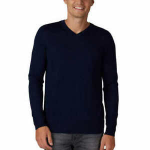 Tahari Men's Merino Wool Blend V-Neck Sweater Pullover