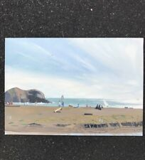 Stanley Goldstein Oil Painting. Rodeo Beach Marin County California Signed 1986