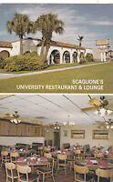 "*Florida Postcard-""Scaglione's University Restaurant & Lounge""  (#159)"
