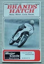 Brands Hatch 22 OTT 1967 RELE 'Motore Ciclo PROGRAMMA GARE