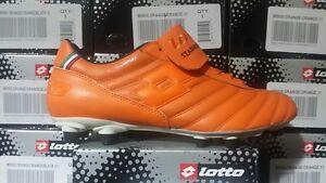 Lotto Retro Men's SOCCER CLEATS Sneakers M5800 orange  Fast Shipping L