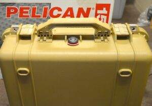 Pelican Watertight Case - #1500 Desert Tan with Foam