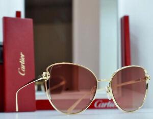 CARTIER Panthere Occhiali Da Sole Rimless Sunglasses Lunette Coll.021 New Brilen
