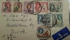 O) 1953 Southern Rhodesia, Queen Elizabeht Ii, Antelope - Tobacco - Rhodes Grave