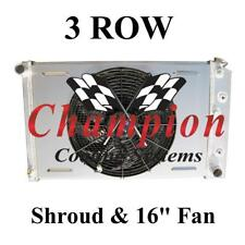 "1975-1979 Buick Skylark 3 Row Champion  Radiator With Shroud And 16"" Fan"