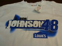 NASCAR Jimmie Johnson #48  Lowes Racing T-Shirt XL  New  N14