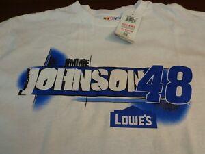NASCAR Jimmie Johnson #48  Lowes Racing T-Shirt XL  New