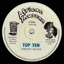 "GREGORY ISAACS-top ten    african museum 12""     (hear)    reggae"
