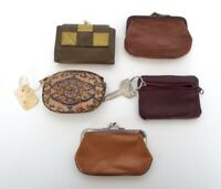 Vintage Coin Purse Collection Leather Princess Gardner Cowhide Mid Century Lot