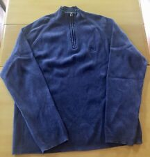 Timberland Men's Blue Mock Turtle Neck Active Sweater Size Xtra Large EUC