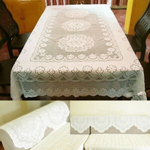 Lace Embroidery Tablecloth Dining Center Table Home Decor Rectangle 90x160cm AU