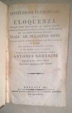 ISTITUZIONI ELEMENTI DI ELOQUENZA SIEPI GUERRINI 1825