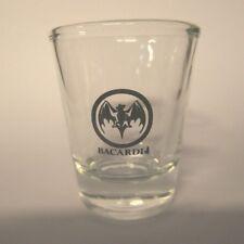 "BACARDI RUM ""BAT LOGO"" SHOT GLASS"