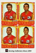2011 AFL Teamcoach Trading Cards Silver Parallel Team Set Gold Coast (7)