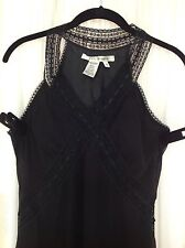 Max Studio Black Silk Coctail Dress Size S New Without Tags
