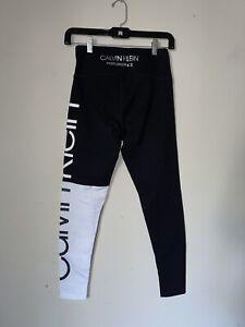 Calvin Klein Performance Stretch Colorblocked High-Waist Leggings Black Sz SP