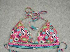 Monsoon Accessorize bright multicoloured pattern beaded bikini top size 14