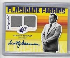 SCOTTY BOWMAN 2009/10 UPPER DECK SPX FLASHBACK FABRICS AUTOGRAPH AUTO