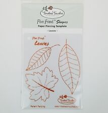 Fiber Friend Paper Piercing Template Leaves Timeless Touches Crafts Scrapbooking