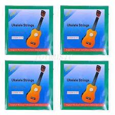 4 Sets Ukulele Strings for Ukelele Uke Hawaii Guitar Parts Black Nylon