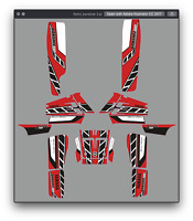 Banshee 350 graphics Yamaha full coverage decal sticker kit #2500-Red