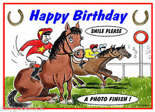 HORSE RACING PUNTERS FUNNY BIRTHDAY CARD FREE POST 1ST CLASS SAME DAY DISPATCH