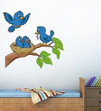 57151 | Wall Stickers Adorable Blue Birds Feeding Baby Room