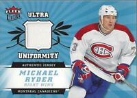 2006-07 Ultra Uniformity #UMR Michael Ryder Jersey - NM-MT