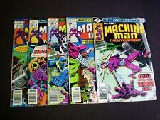 Lot 8 Machine Man 1 2 3 6 7 8 9 11 (1978), Jack Kirby Art, Marvel Comics M2