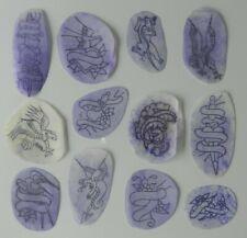 vintage used george mitchell original tattoo flash paper stencils NOT MACHINE