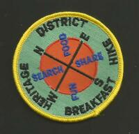 DISTRICT HERITAGE HIKE BREAKFAST    BSA PATCH  3""