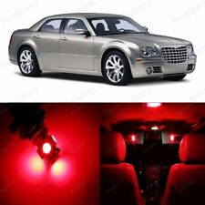 14 x Super Red LED Interior Light Package For Chrysler 300 300C 2005 - 2010