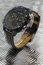 orologio Jay Baxter adventure dual timer 2 fusi orari cinturino pelle cifre gial