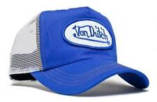Authentic Brand New Von Dutch WHITE on ROYAL Cap Hat Trucker Mesh Snapback