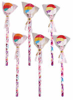 6 Unicorn Pencils & Erasers - Pinata Toy Loot/Party Bag Fillers Wedding/Kids